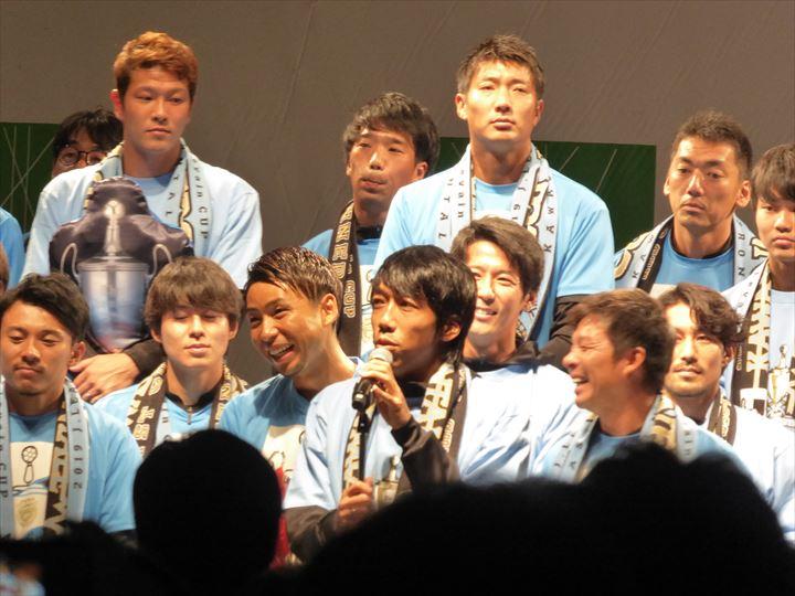 川崎フロンターレの優勝報告会